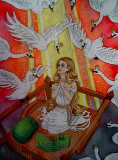 The Wild Swans by almightystarfish.deviantart.com on @deviantART