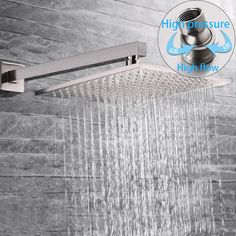SR SUN RISE Brass Shower System 10 Inch Bathroom Luxury Rain Mixer Shower Combo Set Wall Mounted Rainfall Shower Head Systems Brushed Nickel Finish (Contain Shower Faucet Rough-In Valve Body and Trim) Shower Heads Best, Best Rain Shower Head, Water Saving Shower Head, Brass Shower Head, Fixed Shower Head, Shower Faucet Sets, Shower Set, Nickel Finish, Brushed Nickel