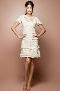 Acqua Mikonos Crochet Dress - Vanessa Montoro USA - vanessamontorolojausa