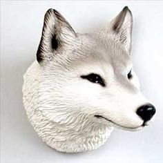 Stone Resin Gray Wolf Magnet