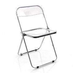 The original Plia Folding Chair was designed by Giancarlo Piretti for the label Anonima Castelli in the year 1967 and is an award-winning design classic. Lucite Furniture, Hallway Furniture, Furniture Chairs, Small Folding Chair, Folding Chairs, Stadium Chairs, Stainless Steel Furniture, Overstuffed Chairs, Eames Chairs