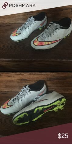 Nike cleats mercurial Men's size 7,5 in need of a good cleaning,worn couple of times you can see in the bottom still like new, retail for 200$...priced to sell fast Nike Shoes Athletic Shoes