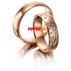 205b1079b6979 Par de Alianças em Ouro Rosé 18k 750 Cravejado com Diamonic - RSE030 Aliança  De Ouro