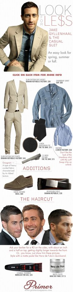 Look for Less: Jake Gyllenhaal & The Casual Suit | Primer