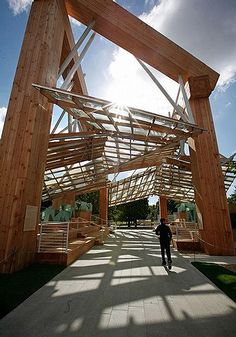 Serpentine Gallery Pavilion, Hyde Park, London, UK designed by Frank Gehry Architect :: 2008