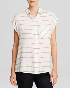 Wayf Sleeveless Stripe Shirt | Bloomingdale's