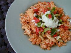Latin Chicken Rice Pot W.salsa & Avocado Cream (Rachael Ray)
