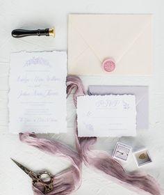 Invitation suite for a pastel winery wedding. Vineyard Wedding, Invitation Suite, Lilac, Wedding Inspiration, Romantic, Pastel, Weddings, Cake, Wedding