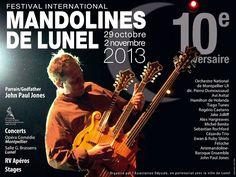 Festival international de mandolines de Lunel. Du 29 octobre au 2 novembre 2013 à Lunel.