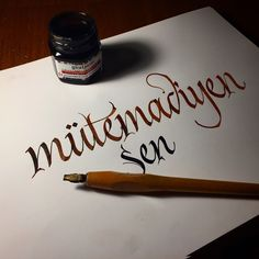 Caligraphy... #work #artlovers #artwork #artlife #art #typo #trend #brown #typegang #typografi #typography #caligrapher #love #calligritype #kaligrafi #artvideo #brush #güzelyazan #parallelpen #turkey #type #sanat #konya #goodtype #mütemadiyen #caligraphy