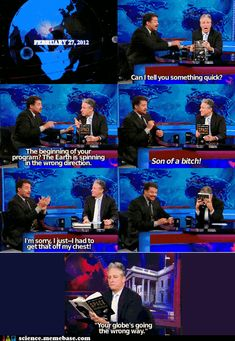 This was totally hilarious the other night on The Daily Show with Jon Stewart - made my night!!