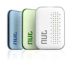 FAVOLCANO Mini Nut 3 Smart Tag Bluetooth GPS Tracker Key Finder Locator Sensor Alarm Anti Lost Wallet Pet Child Locator, 3-Pack (Green+Blue+White)