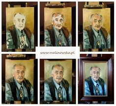 Painting oil portrait- step by step