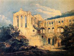 Thomas Girtin (1775-1802) Rievaulx Abbey, Yorkshire (detail) Oil on canvas