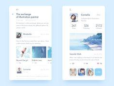 Illustrator Online Communication app by Rounded Rectangle #Design Popular #Dribbble #shots