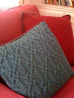 Ravelry: Entwined Cables Pillow by Melissa Leapman