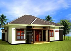 Architectural design for a minimalist home model can be placed or built with a fairly limited place. Modern Minimalist House, Small Modern Home, Bungalow House Design, Modern House Design, One Storey House, Building Development, Kerala Houses, Types Of Houses