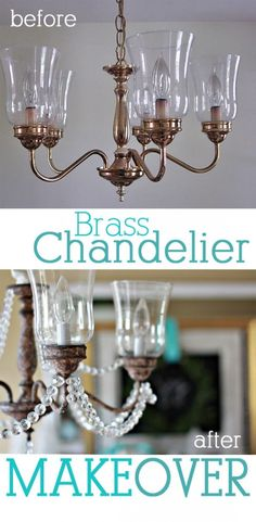 Brass Chandelier Makeover Painting ChandeliersDining Room