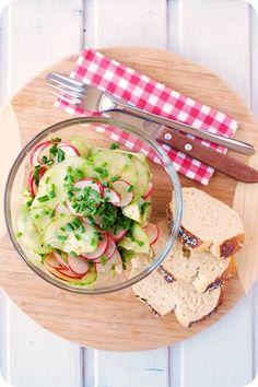 Frl. Moonstruck kocht!: Gurken-Radieschen-Salat mit süßem Senf-Dressing
