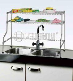 Adjustable Stainless Steel Kitchen Over The Sink Shelf Rack