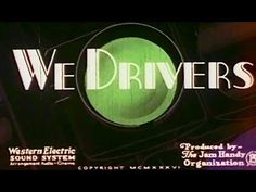 """Safe Driving: """"We Drivers"""" 1936 Chevrolet Division, General Motors, Max Fleischer #Animation: http://youtu.be/UrlW12kwYEQ #DriversEd #safety"""