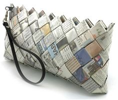 Purse from newspapers.