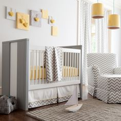 Gray and Yellow Zig Zag Nursery by Carousel Designs - contemporary - kids - atlanta - Carousel Designs