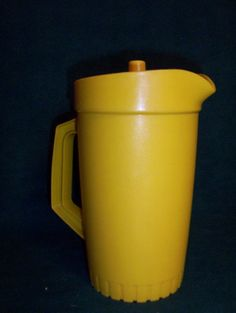 vintage yellow tupperware.  reminds me of my mama.