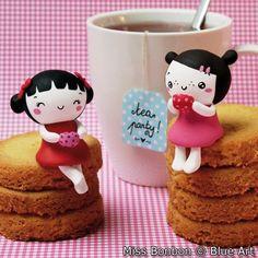 CARTES P. Miss Bonbon - Tea Party 14x14cm