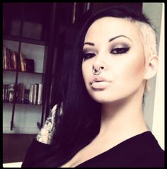 Omg I like the hair.. but I could never do that.. I would miss my hair