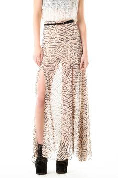 #oBaz                     #Skirt                    #Only #Maxi-Zebra #Skirt  One and Only Maxi-Zebra Skirt                                                 http://www.seapai.com/product.aspx?PID=97676