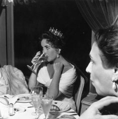 Elizabeth Taylor at the Cannes Film Festival in 1957