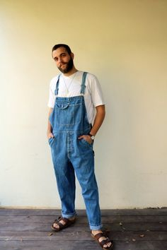 32c531b00df 90s Denim Overalls Vintage 80s Coveralls Blue Jean Hipster