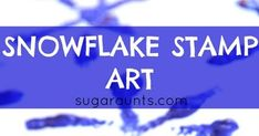 Create snowflake art with pipe cleaners twisted into snowflakes and stamped into paint.