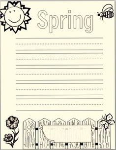 spring handwriting paper Spring writing paper is a packet of lined paper with a spring theme use these throughout the spring season copy the paper in bright, spring colors and place them at a writing center or thematic center.