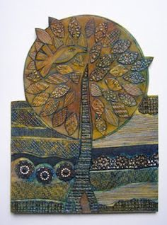 Looking for collograph ideas for my students and saw this...it is the plate after the prints were made, so beautiful!