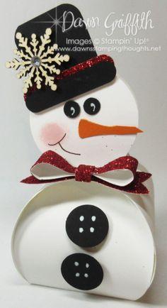 Curvy Keepsake Snowman Box video (Dawn's Stamping Thoughts)