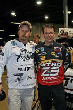 Deadfish Company Pro Staff member with KVD at a fishing expo www.deadfishcompany.com