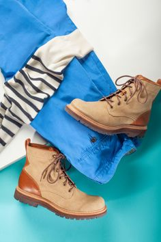 The UGG Australia Huntley Boot for Men. #OneColorDay #Blue