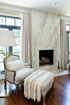 Modern Marble Bedroom Decoration Ideas to Steal Picture 17 A fireplace can be a structure produced w Bedroom Fireplace, Home Fireplace, Fireplace Remodel, Fireplace Surrounds, Fireplace Design, Marble Fireplace Surround, Fireplace Outdoor, Country Fireplace, Fireplace Update
