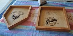 I made these plaques for a friend who's a big Giants fan.