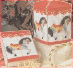 Carosul Horse Tissue Box Desk Set Plastic Canvas Pattern Digital by - Offeritem Item Number: 87493 Plastic Canvas Tissue Boxes, Plastic Canvas Crafts, Plastic Canvas Patterns, Horse Pattern, Plastic Canvas Christmas, Ppr, Carousel Horses, Needlepoint Patterns, Kids Patterns
