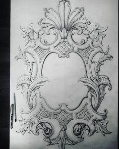 "392 Likes, 5 Comments - Севостьянов Сергей (@ornamental_patterns) on Instagram: ""Эскиз резного медальона в стиле""классицизм"". Sketch of a carved…"""