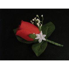 https://bouquet-de-la-mariee.com/6-boutonnieres-mariage --> Boutonnière Mariage, Choix des couleurs Boutonnière fait avec 1 rose, des perles, des gypsophile et des feuilles vertes foncé La boutonnière est faite à la main, sur mesure en France avec des fleurs artificielles Haut de Gamme