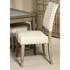 Liberty Weatherford Upholstered Nailhead Side Chair