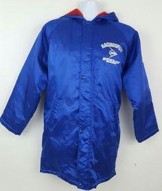 Dunlop Motorsport Racing Spirit Motorcycles Blue Hooded Men's Jacket Sz Medium #Dunlop #BasicJacket