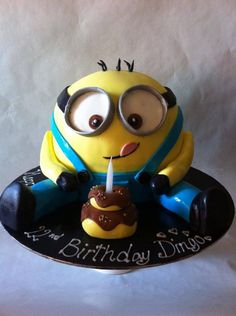 Minion Birthday Cake by Creative Art Cakes, Merrylands, New South Wales, Australia. You'll find this Cake Appreciation Society Member in our Directory at www.cakeappreciationsociety.com