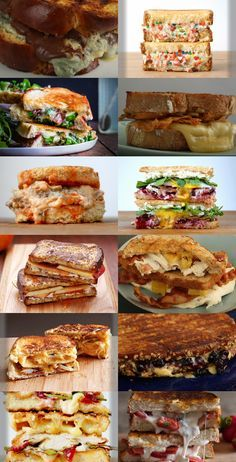 Funfetti grilled cheese sandwich, chicken and waffle grilled cheese sandwich and strawberry ricotta grilled cheese sandwich. Which one's your favorite :)?
