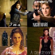 Annabeth, Tris, Hermione and Katnis – girl power Girl Power Quotes, Girl Quotes, Percy Jackson, Film Meme, Hermione, Divergent Hunger Games, Fandom Quotes, Fandom Crossover, Book Memes