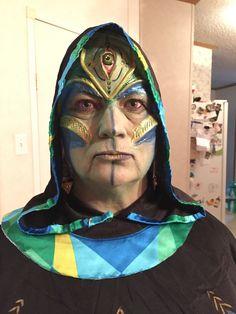 Makeup complete Alien Makeup